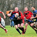 Jordan Turner keeping tabs on the Cadishead attacker: Littleborough Rugby Union