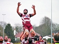 Tom Helliwell taking lineout ball - Rochdale Rugby Union FC