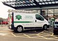 Greenman Landscapes parked in a disabled bay