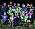 Littleborough RUFC under 10s with Sale Sharks stars James O�Connor, Halani Aulika, Andrei Ostrikov and Paolo Odogwu