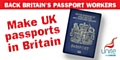 We demand the new blue UK passport is made in Britain to support UK jobs