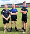 Ryan Dalton, Brandon Wood and Ben Forster train at Salford Red Devils