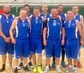 Rochdale Rockets Basketball 40+ team at 2018 Midland Masters