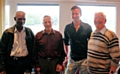 Jack Wilson, second left, with Ralph Farmer, Bobby Cross and Jim Porter at a club reunion a few years past