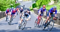 Matt Jackson (second) Chris Green (fifth) in the peloton in East Lancs Spring Road Race