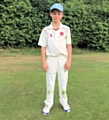 Harry Butterworth representing the Lancashire league u14s cricket team v Wigan