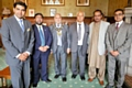 Sohail Ahmed Anjaum Ansari, Business Ambassador of Sahiwal and former President of the Chamber of  Industry and Trade, Solicitor Sohaib Abmed, businessman Mian Mohammad Ashraf Ansari, Adeel Mushtaq, Liaqat Ali and the Mayor of Rochdale  Mohammed Zaman