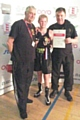 Allana Shaw, England Boxing National School Championship title with Alan Bacon and Steven Connellan