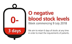 If you are O negative and you can give blood, please donate now