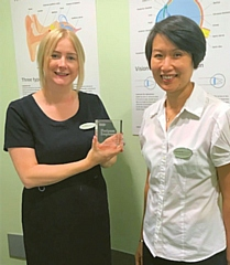 Sarah Culshaw and Yeow-Khee Beh, Specsavers Rochdale