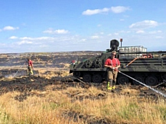 Heywood Tanks helped battle the Winter Hill fire