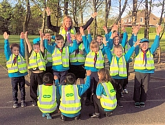 Specsavers in Rochdale donated high visibility jackets to the 12A Rochdale Smithy Bridge Beavers scout club
