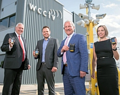 HSBC UK�s Jonathan Rutter, James Thornhill of WCCTV, Tim Williams of WCCTV and Helen Durrant of HSBC