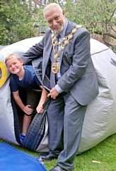 Mayor Mohammed Zaman at Crimble Croft Community Centre for National Play Day