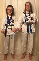 Blue Belt sisters, Eleanor and Madeleine Kelsey-Lyon