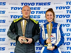 Steve Brown secured third in the British Rallycross BMW MINI series alongside team mate Drew Bellerby