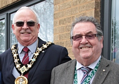 Councillor Ray Dutton and Councillor Peter Rush, pictured during Councillor Dutton's Mayoral year