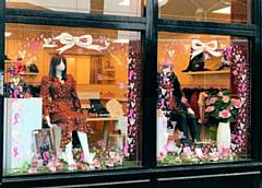 Pretty Parade's window display was named a joint winner of Little 'Pink' Borough