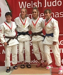 Isobel Kitchen (second from left) wins Gold at Welsh Open