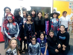 Pupils and staff alike came dressed up in spooky costumes