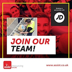 Assist Resourcing is looking for full-time warehouse operatives at JD Sports
