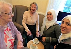 Residents of Half Acre House and students came together to chat about their lives and shared memories