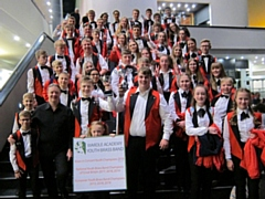 Wardle Academy's Youth Brass Band at the Youth Brass in Concert championships