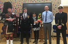 The Heywood Veterans Association at Heap Bridge Primary School