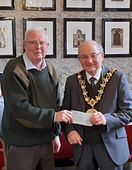 Wing Commander David Forbes and Mayor Billy Sheerin