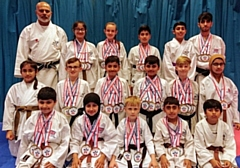 The DOJO Karate Centre Rochdale squad medalists