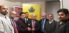 Journalist Mirza Naeem Ur Rehman was presented with an acknowledgment shield by Rochdale Kashmiri Association (RKA)
