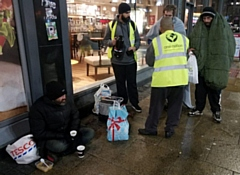Teams from the Rochdale branch of the One Nation charity distributed winter packs to the homeless and needy