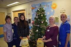 Babra Shaheen (thrid from left) with the Breast Pump and Neonatal Unit staff