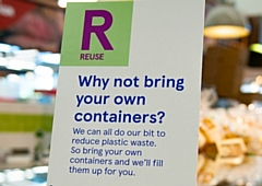 Tesco suggests reusing your own containers to reduce plastic waste