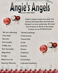 Angie's Angels poster of items needed