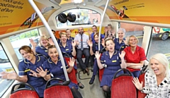 Fairfield Hospital staff on the Rosso Trax service which frequents the hospital