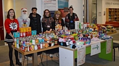 Donations were collected by the Students' Union at Rochdale Sixth Form College in exchange for wearing a Christmas jumper for the day