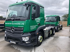 Manchester Galvanizing, which runs a busy collection and delivery service from its site, is switching to new livery