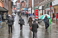 Yorkshire Street, Rochdale: companies are likely to see their business rates increase by 2.1%