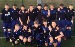 Year 8 footballers who are in the semi-final of the English School�s Football Association U13s PlayStation Small Schools� Trophy