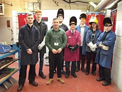 Deputy Mayor Billy Sheerin with Rochdale Training students
