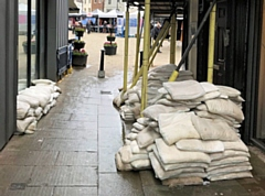 Sandbags on The Walk