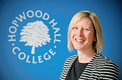 Julia Heap, principal of Hopwood Hall College