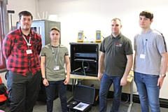 Bury College students Matthew Melia and Jacob Kurtz, former apprentice Nathan Hall, Bury College student Wesley Large