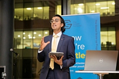 Vikas Shah MBE speaking at the at The ScaleUp Institute