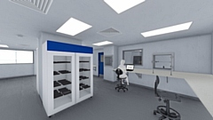 3D image of project at Weston Park Hospital in Sheffield