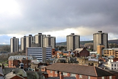 Rochdale�s iconic �Seven Sisters� tower blocks at College Bank