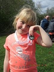 Ella Lockwood with her Hospice to Hospice medal