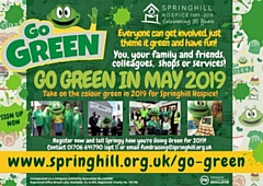 It's Springhill's 30th anniversary year, and their Go Green campaign will take place over 30 days in May