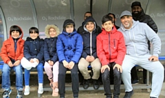 The family of Egyptian refugees who were guests of the Club at Saturday's game